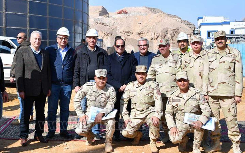 Egyptian President Abdel Fattah al-Sisi visits Galalah city mega seawater desalination plant being developed by Metito