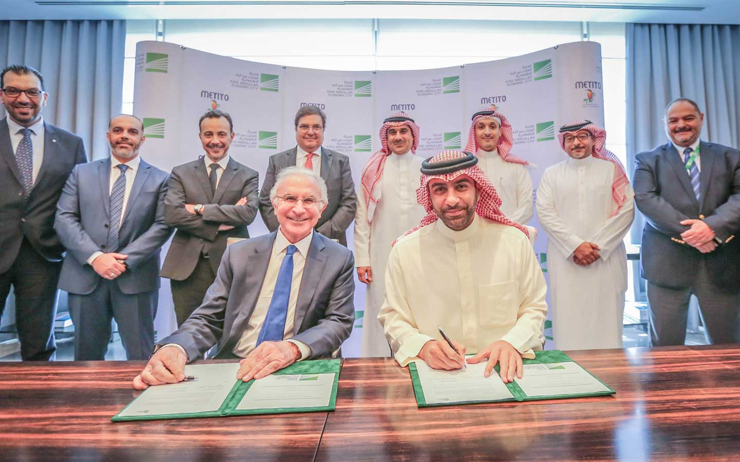 Metito signs a project worth 220 Million Saudi Riyals to establish desalination plant and solar electricity generation in King Abdullah Economic City